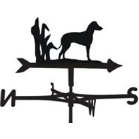 Product photograph showing Weathervane In Manchester Terrier Design - Large Traditional