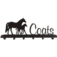 Coat Rack in Mare & Foal Horse Design