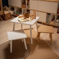 Vox Match Kids Table with Optional Coloured Overlay - Oak Effect