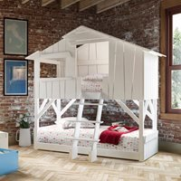 Mathy by Bols Treehouse Bunk Bed - Mathy Summer Pink