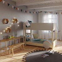 Mathy by Bols Discovery 1 Bunk Bed - Mathy Thunderstorm Grey