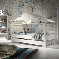 Mathy by Bols Star Treehouse Single Cabin Bed with Optional Trundle Drawer - Mathy White