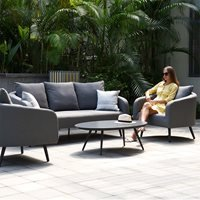 Maze Rattan Ambition 3 Seat Sofa Set - Flanelle Grey