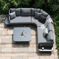 Maze Rattan Cove Corner Sofa Set - Flanelle Grey