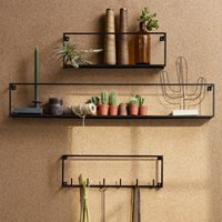 Product photograph showing Meert Slim Wall Shelf By Woood - 100cm