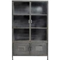 Ronja Industrial Metal Display Cabinet by Woood