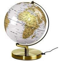 Wild & Wolf Light Up 10 Globe in Arctic White & Brass