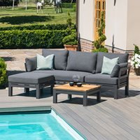 Product photograph showing Maze Rattan Oslo Chaise Sofa Set