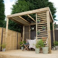 Forest Garden Dining Pergola with Panels