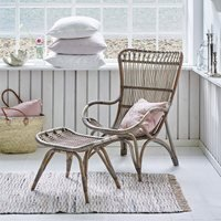 Sika Rattan Monet Wingback Chair in Taupe