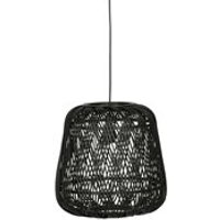 Woood Moza Bamboo Pendant Light - Black