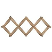 Product photograph showing Woood Levin Folding Coat Rack - Natural