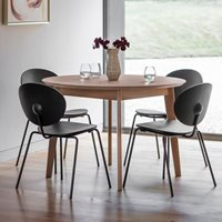 Product photograph showing Chepstow Round Dining Table - Black
