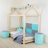 Benlemi Happy House Bed - Turquoise