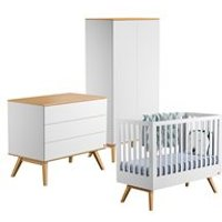 Vox Nature Cot 3 Piece Nursery Set in White and Oak