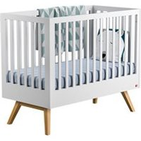 Vox Nature Baby and Toddler Cot Bed in White and Oak