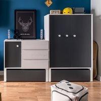Vox Nest Bedroom Cupboard Unit in Larch Effect & Graphite - 147cm x 95cm