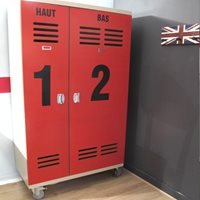 Product photograph showing Mathy By Bols Kids Wardrobe In New Worker Design - Mathy White