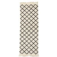 Product photograph showing Bloomingville Natural Wool Rug