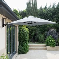 Product photograph showing Wall Mounted Cantilever Parasol