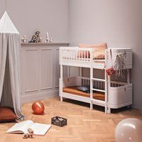 Oliver Furniture Wood Mini+ Kids Low Bunk Bed in White