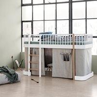 Oliver Furniture Wood Children's Low Loft Bed in White & Oak
