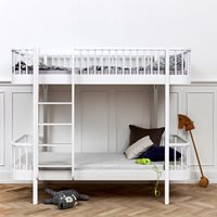 Oliver Furniture Wood Childrens Luxury Bunk Bed in White