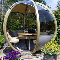 Luxury Rotating Seater Garden Pod - Greyfriar