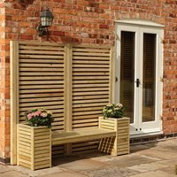 Rowlinson Wooden Garden Bench and Planter Set