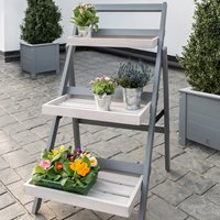 Product photograph showing Grigio Folding Pot Stand