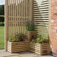 Rowlinson Garden Planter and Screen Corner Set