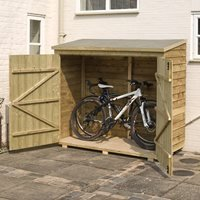 Product photograph showing Rowlinson Overlap Garden Wallstore 6ft X 3ft In Natural Timber