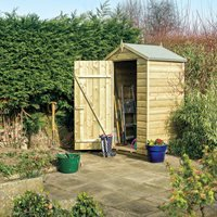Product photograph showing Rowlinson Oxford 4 X 3 Garden Shed In Natural Timber