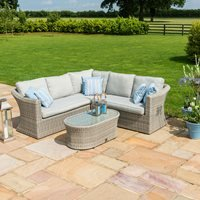 Product photograph showing Maze Rattan Oxford Corner Garden Sofa Set