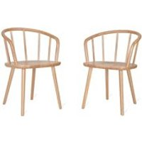 Product photograph showing Garden Trading Pair Of Wooden Carver Chairs