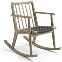 PHYLIP SOLID ACACIA WOOD ROCKING CHAIR in Greywash