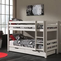 Pino Kids Bunk Bed in White - High Bunk - 180cm