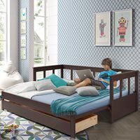 Pino Day Bed with Pull Out Bed - Taupe