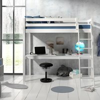 Product photograph showing Pino Kids High Sleeper With Desk - Grey