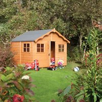 Rowlinson Playaway Lodge Wooden Playhouse in Honey Brown