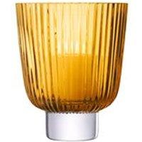 LSA Pleat Storm Lantern in Amber