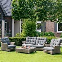 Linden Rattan Garden Lounge Set