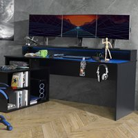 Product photograph showing Flair Furnishings Power W Gaming Desk