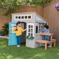 Kidkraft Preston Wooden Outdoor Playhouse