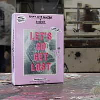 Product photograph showing Luckies Print Club London Let S Go Get Lost Together Jigsaw Puzzle