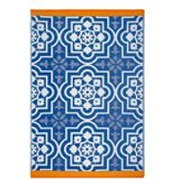 Product photograph showing Fab Hab Puebla Outdoor Rug In Blue