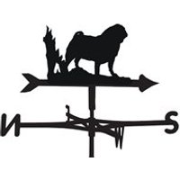 Weathervane in Pug Design - Large (Traditional)