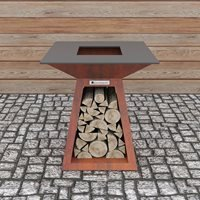 Quan Quadro Premium Small Wood Fired BBQ - Carbon