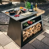 Quan Quadro Large Wood Fired BBQ - Corten