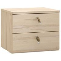 Vox RandO Bedside Table with Drawers in Beech Effect